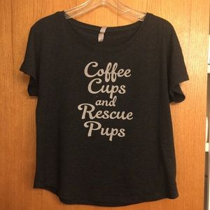Tops - Coffee Cups and Rescue Pups